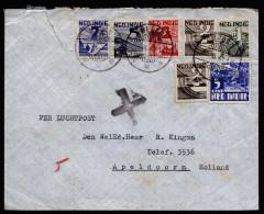 A2745) Netherlands Indies Brief Von Medan 30.8.1947 Nach Apeldoorn Mit 7 Marken - Niederländisch-Indien