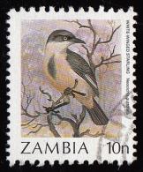 1987 - Timbre De Zambie - YT 389 -  10 N. Spréo à Gorge Noire( Neocichla Gutturalis ) - Zambie (1965-...)