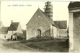 LIGRON (72) L'Eglise - Ed. Thibault N°1244 (clocher En Réparation, 12H20) - Autres Communes