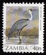 1987 - Timbre De Zambie - YT 392 -  40 N. Grue Caronculée( Grus Carunculatus  ) - Zambie (1965-...)