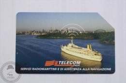 Collectible Boat Phone Card -  Telecom Italia - Radio-maritime Services - Boats