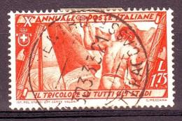 REGNO 1932 N.337 MARCIA SU ROMA  1,75L. ARANCIO  USATO 1 VALORE - Oblitérés