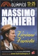 ITALIA 2014 - ROMA: TEATRO OLIMPICO - MASSIMO RANIERI - VIVIANI VARIETA' - PROMO CARD - Theater