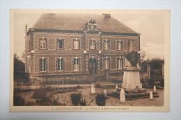 61 : Soligni La Trappe - La Mairie Et Monument  Aux Morts - France