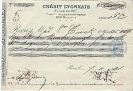 Crédit Lyonnais / Récépissé De Dépôt/ Madame Turck/ 1901?     BA1 - Bank & Insurance