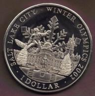 COOK ISLANDS 1 DOLLAR 2001 WINTER OLYMPICS 2002 - Cook