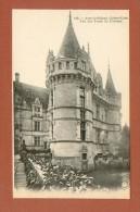 CPA  FRANCE  37  -  AZAY-LE-RIDEAU  -  145  Une Des Tours Du Château  ( Dos Simple Grand Bazar Tours ) - Azay-le-Rideau