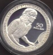 NIUE 50 DOLLARS 1989 STEFFI GRAFF ARGENT SILVER  PROOF - Niue