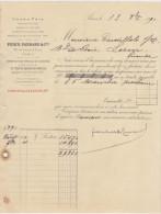 Panhard & Levassor, Constructeurs Automobiles, Signature De Panhard 1891 - Autographes