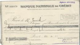 Banque Nationale De Crédit  / Agence BOURSE/Récépissé De Dépôt/ Monsieur Turck/ 1931    BA3 - Bank & Insurance