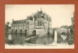 CPA  FRANCE  37  -  CHENONCEAUX  -  149  Le Château - Façade Est  ( Dos Simple Grand Bazar Tours ) - Chenonceaux