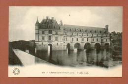 CPA  FRANCE  37  -  CHENONCEAUX  -  150  Le Château - Façade Ouest  ( Dos Simple Grand Bazar Tours ) - Chenonceaux