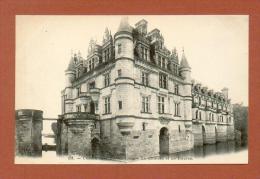 CPA  FRANCE  37  -  CHENONCEAUX  -  151  Le Château Et Les Douves  ( Dos Simple Grand Bazar Tours ) - Chenonceaux