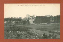 CPA  FRANCE  37  -  LUYNES  -  222  Le Château Vu De La Loire  ( Dos Simple Grand Bazar Tours ) - Luynes