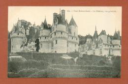 CPA  FRANCE  37  -  RIGNY-USSÉ  -  224  Le Château D'Ussé, Vue Générale  ( Dos Simple Grand Bazar Tours ) - Autres Communes