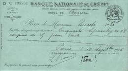 Banque Nationale De Crédit  / Agence BOURSE/Récépissé De Dépôt/ De Titres/ Monsieur Turck/ 1926    BA4 - Bank & Insurance