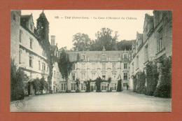 CPA  FRANCE  37  -  RIGNY-USSÉ  -  225  La Cour D'Honneur Du Château D´Ussé,   ( Dos Simple Grand Bazar Tours ) - Autres Communes