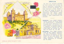 FERRARA - E RAVENNA - Vedutine Con Pubbl. Pastiglie Valda, F.g. Anni 40/50 Opaca- MAG-13-58, 59 - Ferrara