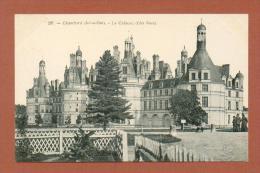 CPA  FRANCE  41  -  CHAMBORD  -  237  Le Château, Côté Nord  ( Dos Simple Grand Bazar, Tours )  Animée - Chambord