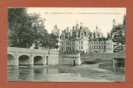 CPA  FRANCE  41  -  CHAMBORD  -  238  Le Château, Côté Nord Et Le Pont Sur Le Cosson ( Dos Simple Grand Bazar, Tours ) - Chambord