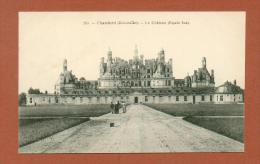 CPA  FRANCE  41  -  CHAMBORD  -  240  Le Château, Façade Sud  ( Dos Simple Grand Bazar, Tours )  Animée - Chambord
