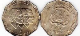 DOMINICAN REPUBLIC 1 PESO 1984 COIN UNC - Dominicana