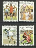 BOPHUTHATSWANA - 1987 Sports Set Of 4 MLH *  SG 183-6  Sc 188-91 - Bophuthatswana