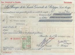 La Banque De La Société Générale De Belgique/ Mademoiselle Adéle Couture/Bruxelles /1936    BA12 - Bank & Insurance