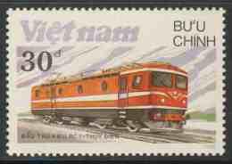 Vietnam 1988 Mi 1971 ** Class RC 1 Electric Locomotive, Sweden / Lokomotiven - Treinen