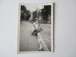 Originalfoto 1939 Kleinkind Mit Teddy. Marokko / Frankreich. Roter Stempel: Stalag X B 20 Geprüft - Afrika