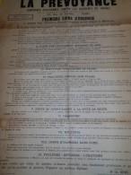 La Prévoyance/Cie D'Assurance Contre Les Accidents Du Travail/Affiche / 1ers Soins D'Urgence /1903    BA19 - Bank & Insurance