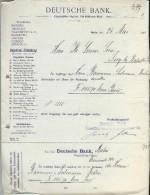 Deutsche Bank/BERLIN /Allemagne/Ordre De Virement / Baumann & Sulmann/Lecoeur /Ivry La Bataille 1902    BA20 - Banco & Caja De Ahorros