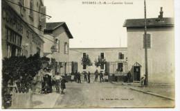 9091  - Alpes Maritimes -  ANTIBES :  Caserne  GAZAN  -  Circulée En 1908   -  T.B.Etat - Antibes - Vieille Ville