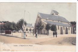 23735 LARDY Eglise Et Place  - Ed Cheramy - Noir Et Blanc - Lardy