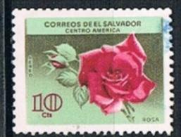 4456 - El Salvador 1965 - Flowers Used - Salvador