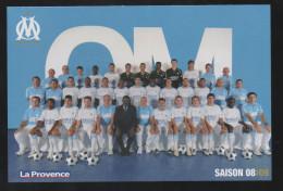CP CARTE POSTALE FOOT FOOTBALL OM OLYMPIQUE MARSEILLE EQUIPE 2009 - Cartes Postales