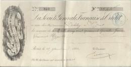 La Société Générale De Crédit/ Paris/ Récépissé De Versement / Derveloy/Saint Just/ 1881    BA24 - Bank & Insurance