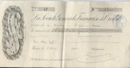 La Société Générale De Crédit/ Paris/ Récépissé De Versement / Derveloy/Saint Just/ 1881    BA25 - Bank & Insurance