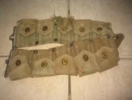 Ceinturon Garand US 2fois 5 Pochettes Avec Numéro De Matricule Du Soldat Et Pressions KLIKIT PULL - 1939-45
