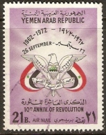 Yemen - 1972 Revolution 10th Anniversary 21b VFU   SG 518  Sc C40 - Yemen