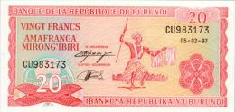 Burundi 20 Francs 1997 Pick 27d  UNC - Burundi