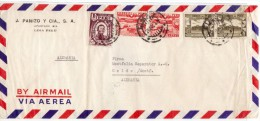 PERU 1949 - AIR MAIL COVER  LIMA  TO OELDE/ WESTF. GERMANIA -  FERIA DE OCTUBRE TIMBRE (AG37) - Peru