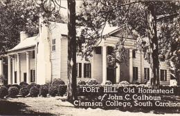 South Carolina Clemson College Fort Hill John C Calhoun Homestead Real Photo - Clemson
