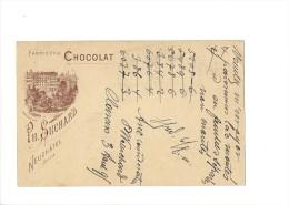 9372 - Carte Postale  Chocolat Suchard Neuchâtel Frabrique N° 3  Clarens 03.08.1895 - Ganzsachen