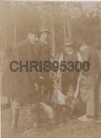 5 PHOTOS ANCIENNES - CHASSE - CHIENS - CHASSEURS - Non Classés