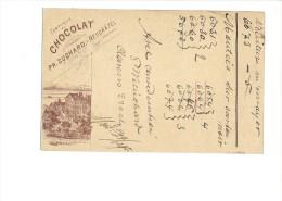 9374 - Carte Postale  Chocolat Suchard Neuchâtel Frabrique N° 4 Clarens 23.10.1895 - Entiers Postaux
