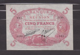 FRANCE. BILLET. MONNAIE. 5 FRANCS. CABASSON. ILE DE LA REUNION. COLONIE FRANCAISE. - Réunion