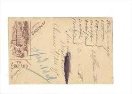 9376 - Carte Postale  Chocolat Suchard Neuchâtel Frabrique N°5  Clarens 17.12.1895 - Interi Postali