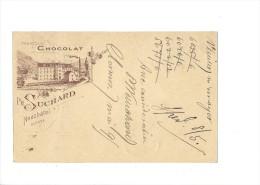 9377 - Carte Postale  Chocolat Suchard Neuchâtel Frabrique N°6  Clarens 07.05.1895 - Ganzsachen