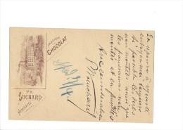 9378 - Carte Postale  Chocolat Suchard Neuchâtel Frabrique  Clarens 04.04.1896 - Ganzsachen